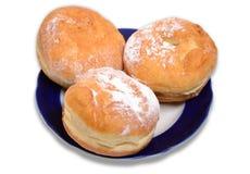Tre panini dolci Fotografie Stock