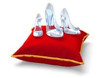 Tre pantofole di vetro Immagine Stock