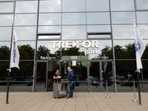 TRE-FOR parkerar, Odense, Danmark Arkivfoto