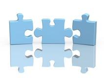 Tre parti di un puzzle illustrazione di stock