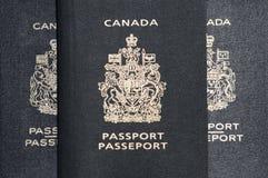 Tre passaporti fotografia stock
