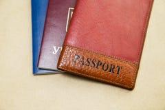 Tre passaporti fotografia stock libera da diritti