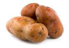 Tre patate hanno isolato Fotografie Stock Libere da Diritti