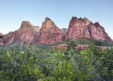 Tre patriarchi in canyon di Zion Immagine Stock Libera da Diritti