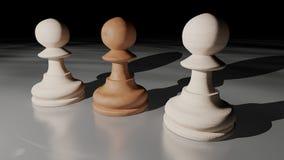 Pegni di scacchi Fotografia Stock