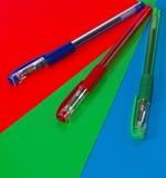 Tre penne Immagini Stock Libere da Diritti