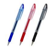 Tre penne Fotografia Stock