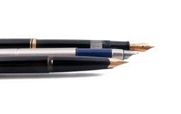 Tre penne stilografiche Fotografia Stock