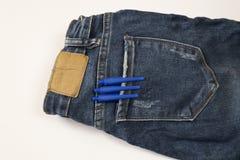 Tre pennor i facket Royaltyfria Bilder