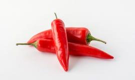 Tre peperoncini rossi rossi Immagine Stock Libera da Diritti