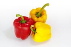 Tre peperoni Fotografie Stock