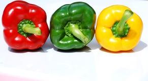 Tre peperoni Fotografia Stock
