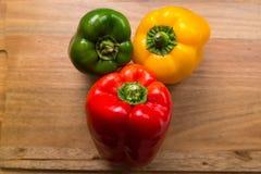 Tre peperoni immagini stock libere da diritti