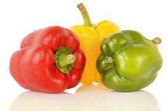 Tre peperoni immagini stock