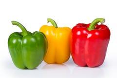 Tre peperoni dolci Immagine Stock
