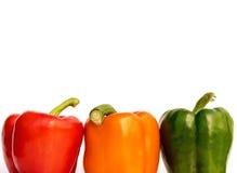 Tre peperoni dolci Immagine Stock Libera da Diritti