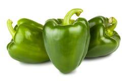 Tre peperoni verdi dolci Immagine Stock