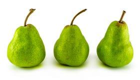 Tre pere isolate su fondo bianco Fotografie Stock