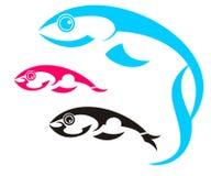 Tre pesci Immagini Stock Libere da Diritti