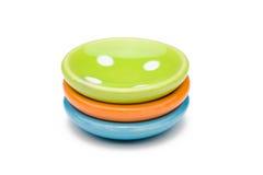 Tre piatti del giocattolo fotografie stock libere da diritti