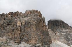 Tre picchi, alpi delle dolomia, Italia Fotografie Stock