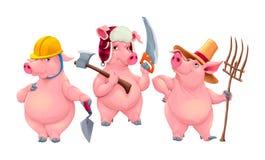 Tre piccoli maiali Fotografie Stock Libere da Diritti