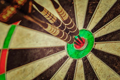 Tre pilar i bullseyeslut upp Fotografering för Bildbyråer