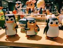Tre pingvin av Madagascar Royaltyfria Bilder