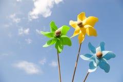 Tre pinwheels Fotografia Stock Libera da Diritti
