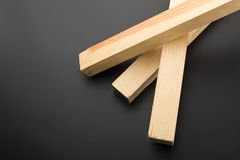 Tre plance di legno su grey Immagini Stock Libere da Diritti