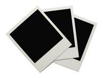 Tre polaroid immagini stock libere da diritti