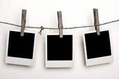 Tre Polaroids Immagini Stock