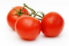 Tre pomodori Fotografie Stock