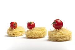 Tre pomodori di ciliegia. Fotografie Stock Libere da Diritti