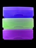 Tre porta-sapone Fotografia Stock