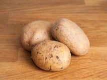Tre potatisar Royaltyfria Foton