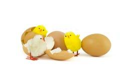 Tre pulcini di Pasqua Immagine Stock