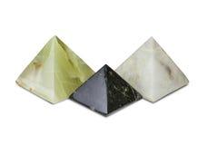 Tre pyramider Royaltyfri Fotografi