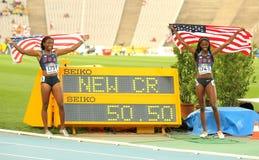 Tre-quarti anteriori di Ashley & Erika Rucker di U.S.A. Fotografia Stock Libera da Diritti