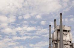 Tre rökbuntar på kraftverket Royaltyfri Fotografi