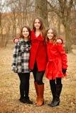 Tre ragazze Fotografie Stock Libere da Diritti