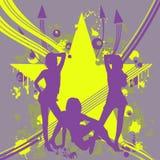 Tre ragazze di dancing Immagine Stock