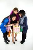 Tre ragazze felici Immagini Stock