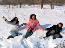 Tre ragazze graziose Fotografia Stock