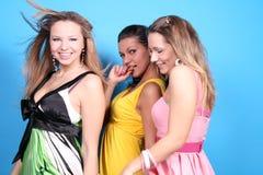 Tre ragazze in studio Fotografie Stock Libere da Diritti