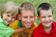 Tre ragazzi felici Immagini Stock Libere da Diritti