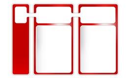 Tre ramar för text vektor illustrationer