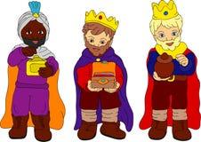 Tre re illustrazione di stock