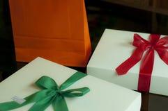 Tre regali immagini stock