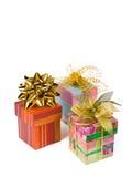 Tre regali Fotografie Stock